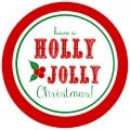 These free printable Holly Jolly Christmas gift tags are a cute way to label any Christmas gift!