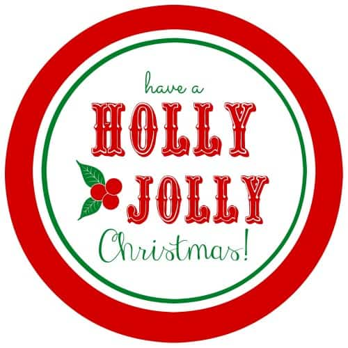 These free printable Holly Jolly gift tags are a cute way to label any Christmas gift!