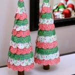 Paper Punched Christmas Tree Tutorial- easy and pretty Christmas decor!