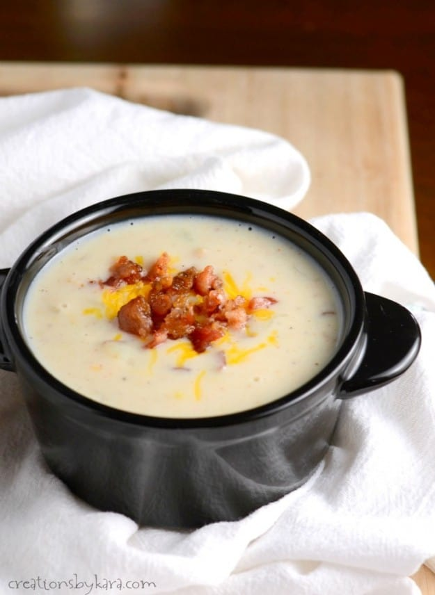 This updated version of classic corn chowder has a little bit of heat. So delicious!