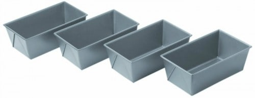 Mini loaf pans for bread baking