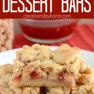 peanut butter and jelly dessert bars pinterest pin