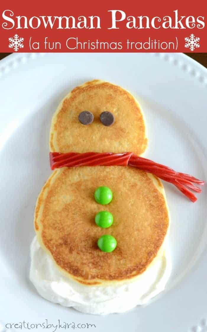 These Snowman Pancakes are easy, tasty, and such a fun Christmas tradition!