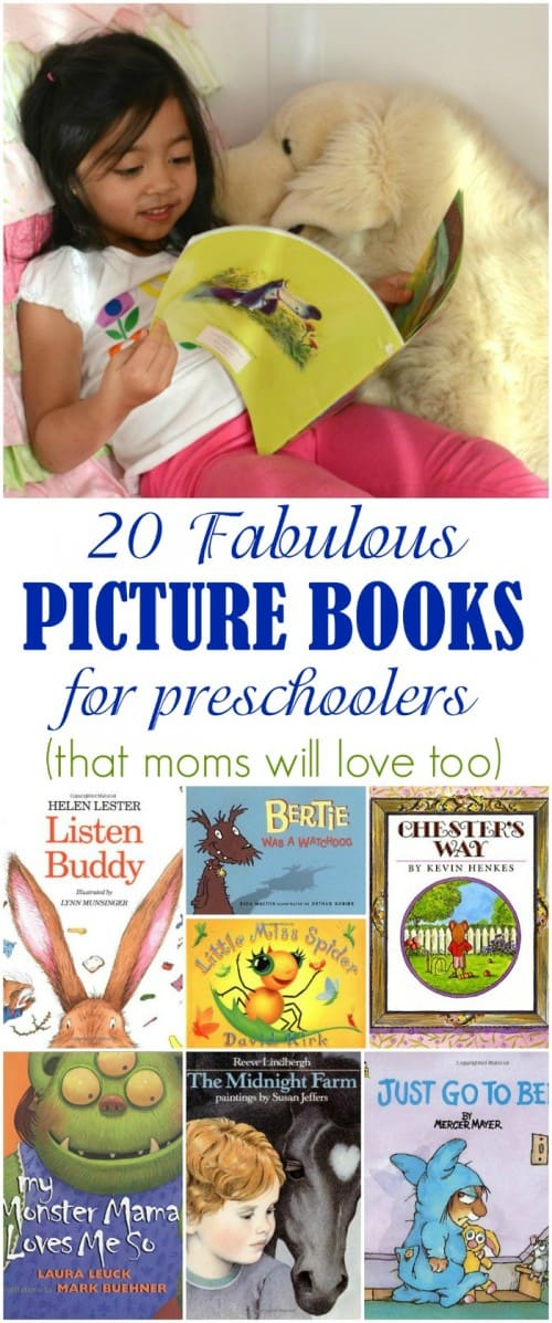 List of 20 fabulous picture books for preschoolers. You will not mind reading these over and over again!