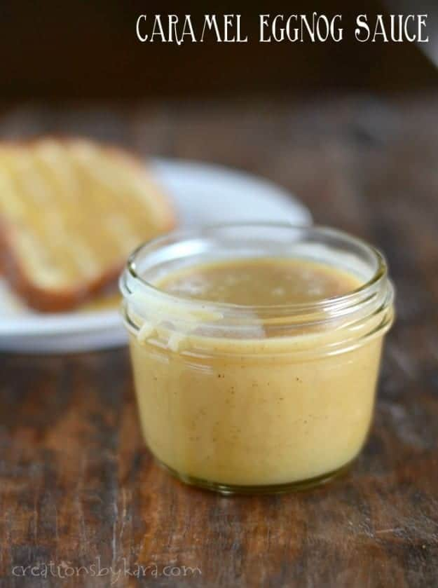 Caramel Eggnog Sauce- delicious over ice cream, or drizzled over pound cake!