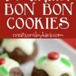chocolate bon bon cookies