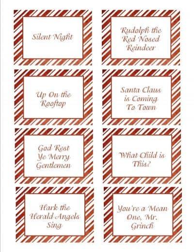 Christmas Songs Pictionary Free Christmas Game Creations By Kara