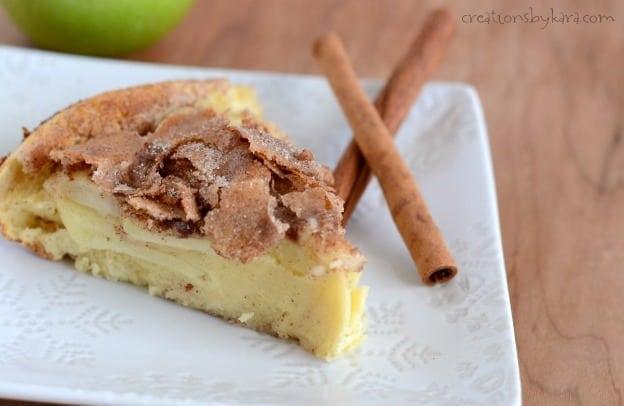 cinnamon apple oven pancakes