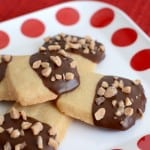 Chocolate Dipped Brown Sugar Shortbread Cookies- a must try cookie recipe!