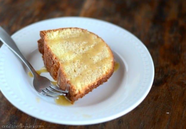 Vanilla Eggnog Cake