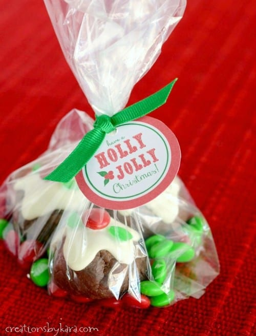 Holly Jolly gift tags- these go perfectly with my Caramel Filled Bon Bon Cookies!