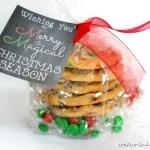Free printable chalkboard Christmas gift tags.