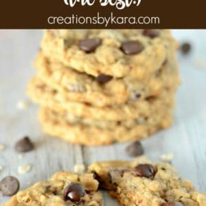 the best toasted oatmeal chocolate chip cookies recipe