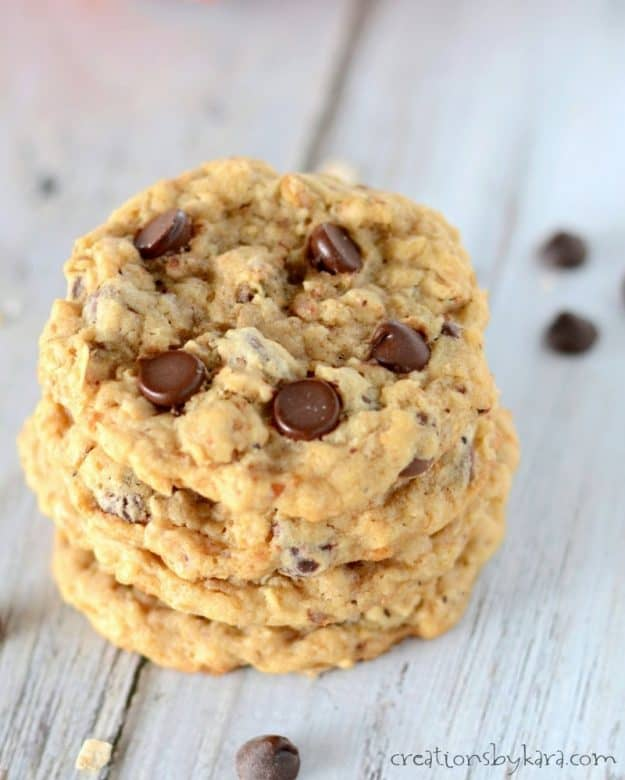 Chocolate Chip Cookies with Toasted Oats