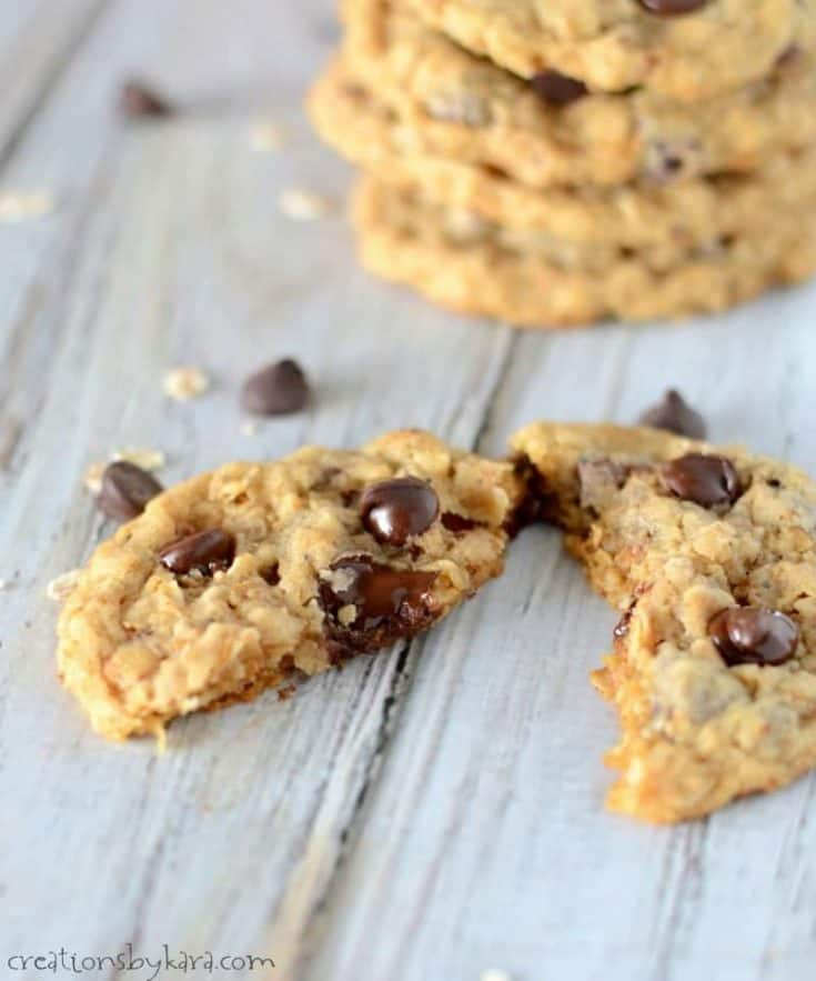 Toasted Oatmeal Chocolate Chip Cookies - best oatmeal chocolate chip cookies