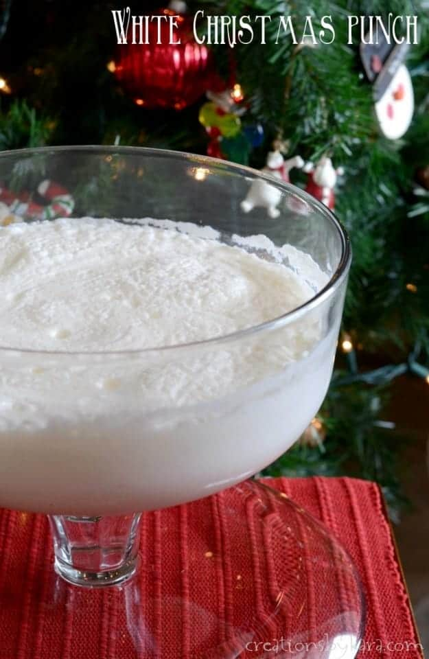 Make this creamy White Christmas Punch for Christmas parties. It is sure to be a hit!