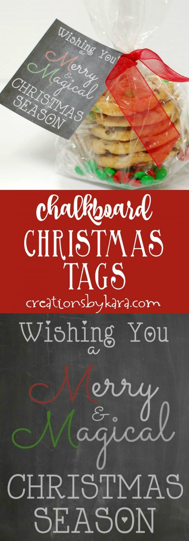 Add this free printable Christmas tag to a bag of M&Ms or goodies for a fast and fun Christmas gift!