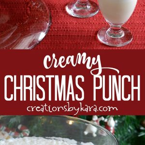white christmas punch recipe collage