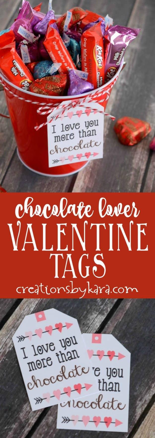 Chocolate Lover Valentine gift tags collage
