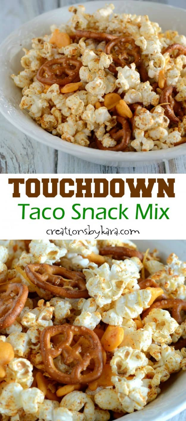 taco snack mix recipe collage