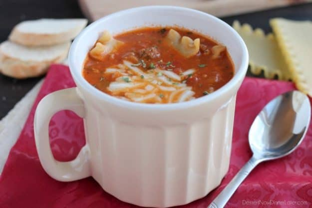 soup recipes to warm you up - lasagna soup