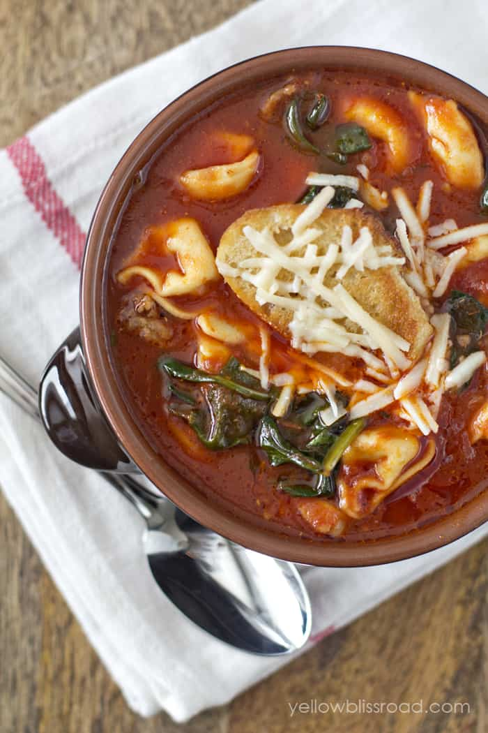 Mel S Kitchen Tortellini Soup