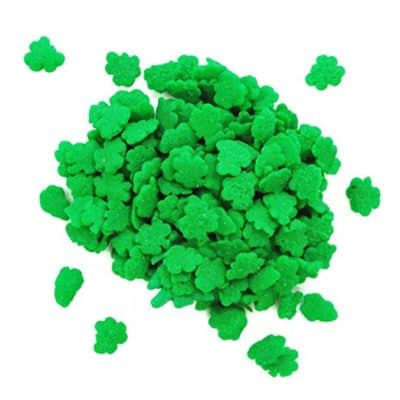 shamrock sprinkles for St. Patricks Day Baking