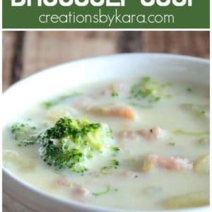 ham broccoli soup collage