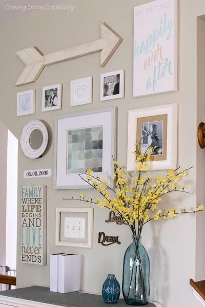 DIY gallery wall art