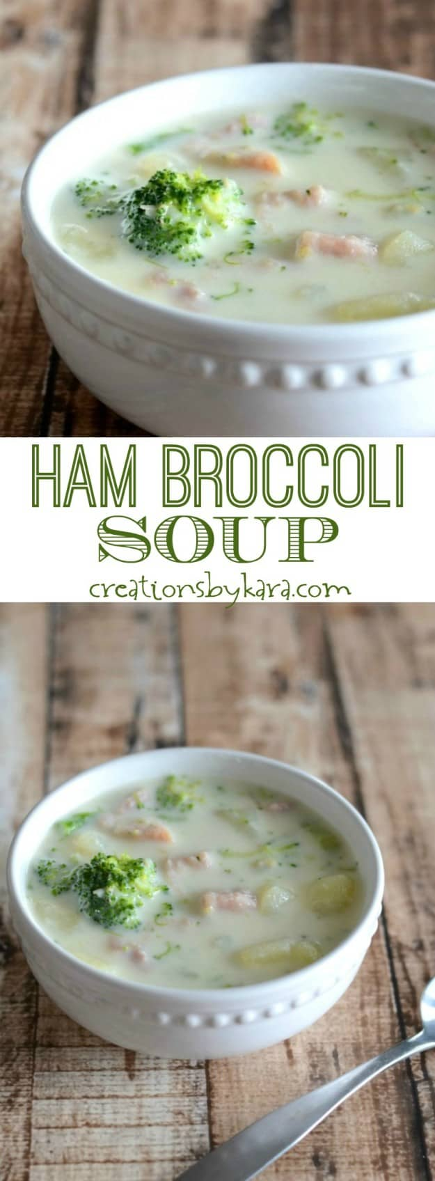 Hearty and delicious Ham Broccoli Soup- a perfect soup recipe to warm you up!