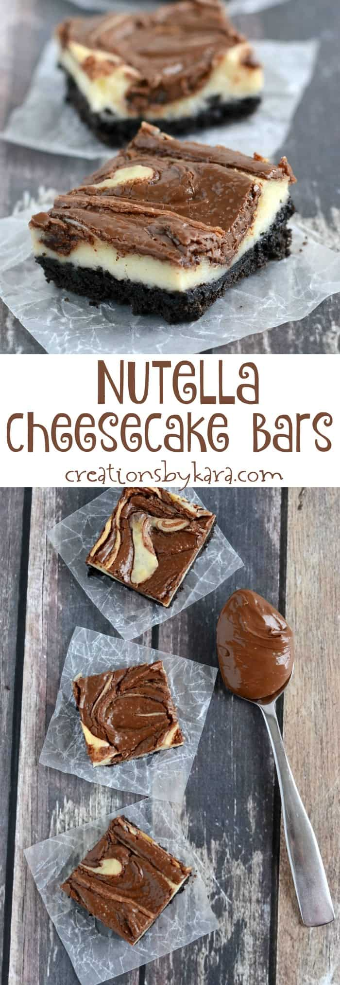 This creamy and delicious Nutella Cheesecake Bars are a cinch to make. And they taste fantastic!