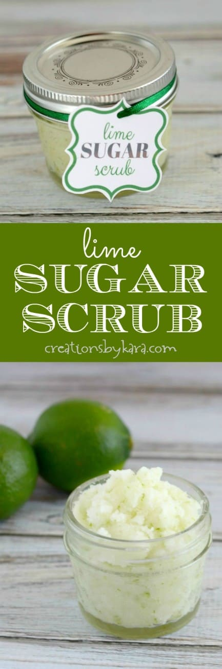 4 ingredient Lime Sugar Scrub- use it every day for soft, silky skin!