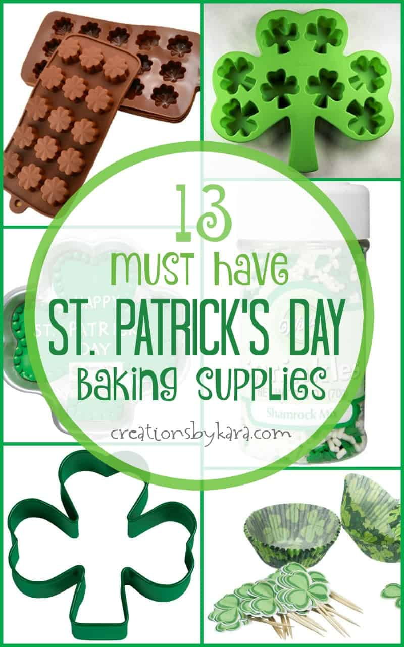 fun st  patricks day baking and party supplies