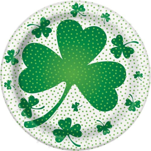 clover plates for st. Patrick's day baking