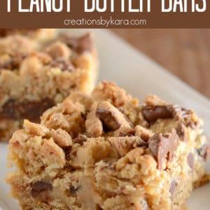 peanut butter caramel bars pinterest pin