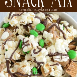 smore snack mix pinterest collage