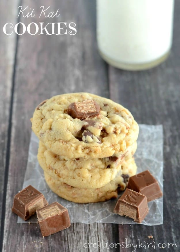 How to make Chocolate Chip Kit Kat Cookies