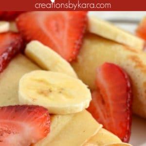 strawberry banana dessert crepes pinterest pin