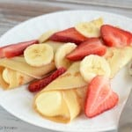 Strawberry Banana Crepe recipe. Crepes are easier to make than you think. Give this recipe a try!
