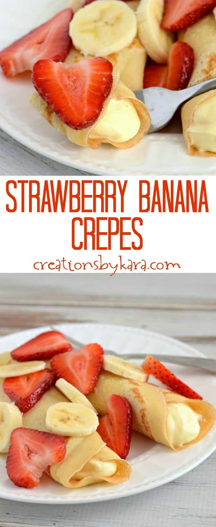 Strawberry Banana Crepes Recipe — Dishmaps