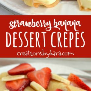 dessert crepes recipe collage