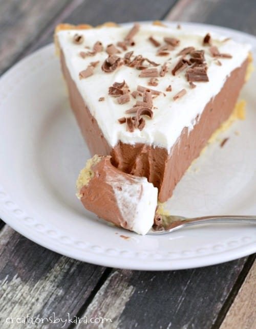 Made from scratch French Silk Pie- the best you will ever have!