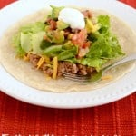 Yummy Tostadas with Avocado Salsa- a fresh and filling dinner recipe.
