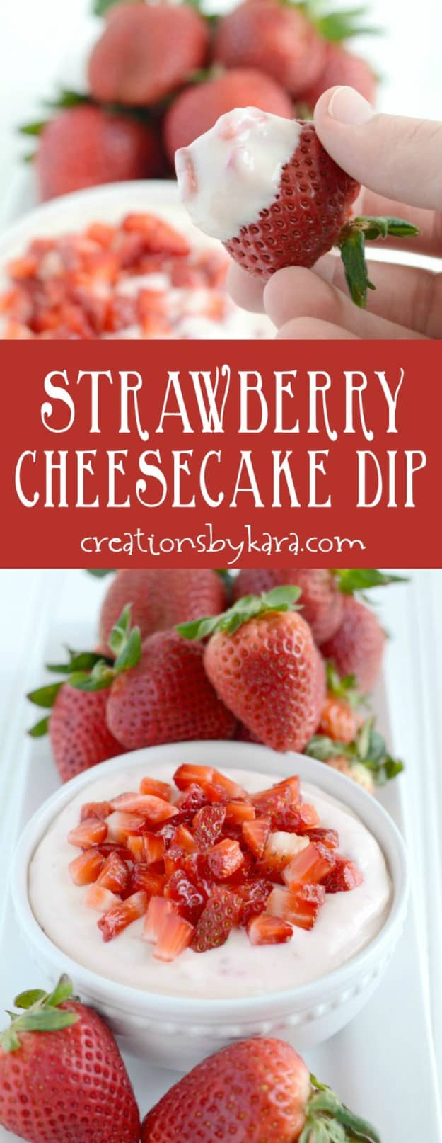 You can whip up this Strawberry Cheesecake Dip in 5 minutes, and it is simply irresistible!