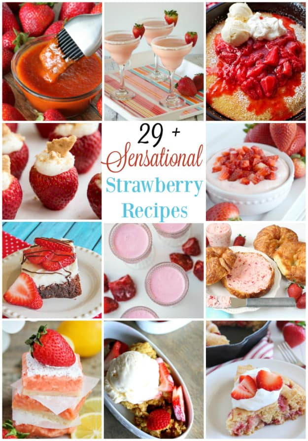 Sensational Strawberry Recipes collage