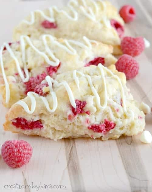 Recipe for White Chocolate Raspberry Scones - these things are AMAZING!