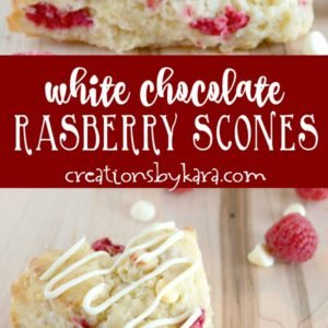 white chocolate raspberry scones recipe collage