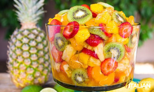 tropical fruit salad for Mother's Day brunch