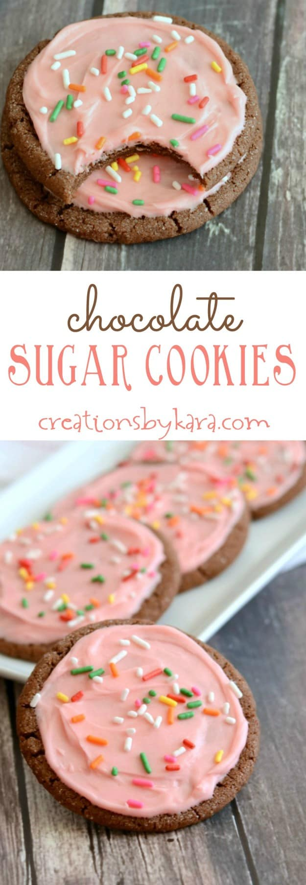 You have to try these Chocolate Sugar Cookies. They are soft and tasty, and so pretty to serve!