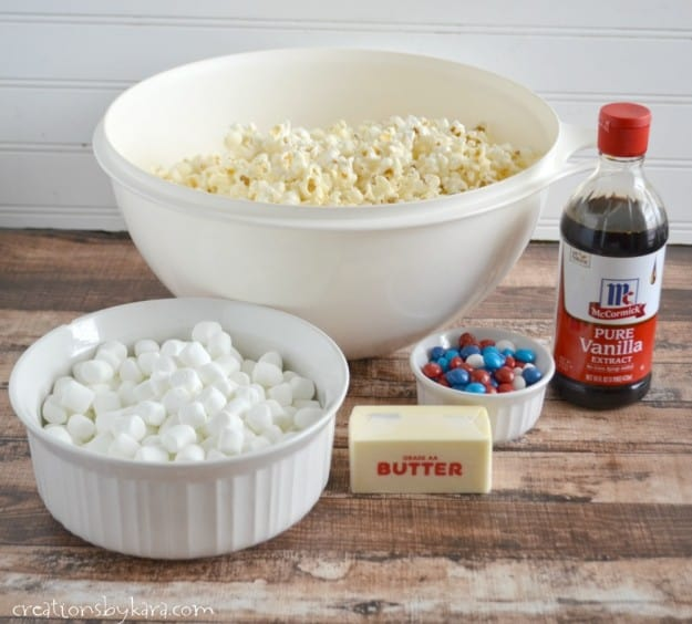 Simple recipe for Popcorn Balls made with marshmallows and skittles